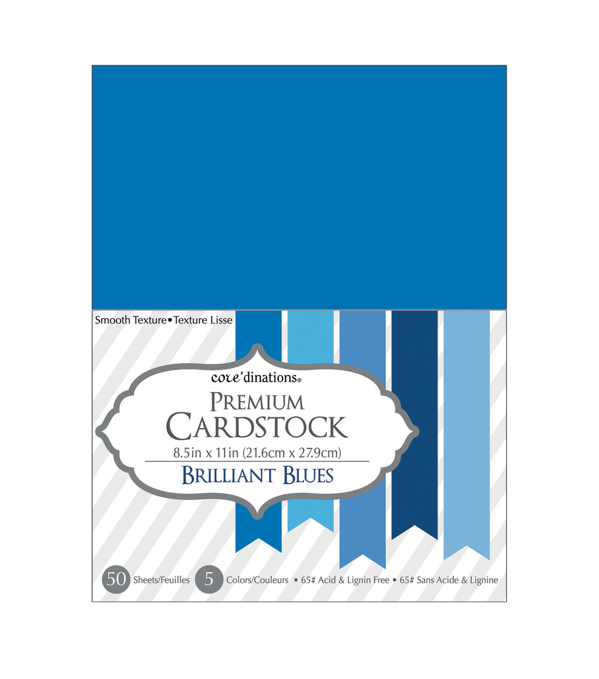 Core\u0027dinations Cardstock Brilliant Blues