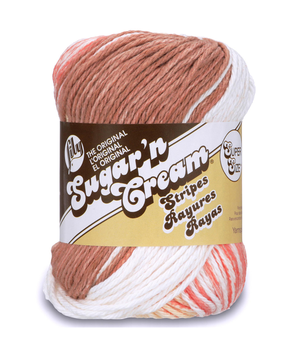 Lily Sugar\u0027n Cream Super Size Yarn, Natural Stripes
