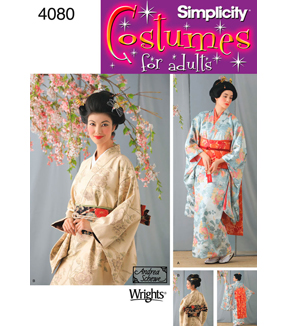Simplicity Pattern 4080-Misses Kimono Costumes, Sizes 6-8-10-12
