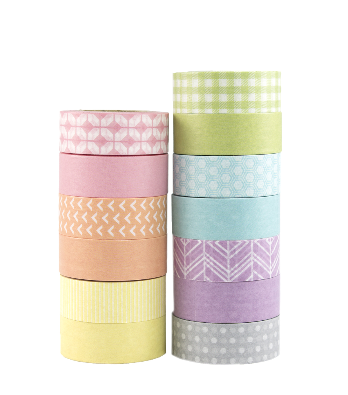 Park Lane Value 13 pk Washi Tapes 0.6\u0027\u0027x10 yds-Pastels