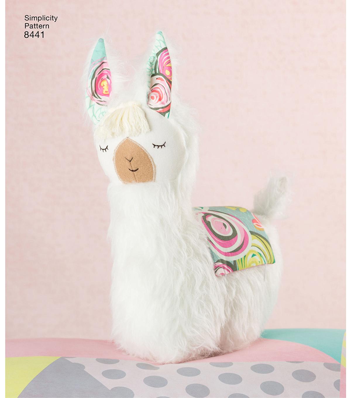 Simplicity Pattern 8441 Stuffed Animals & Pillow | JOANN