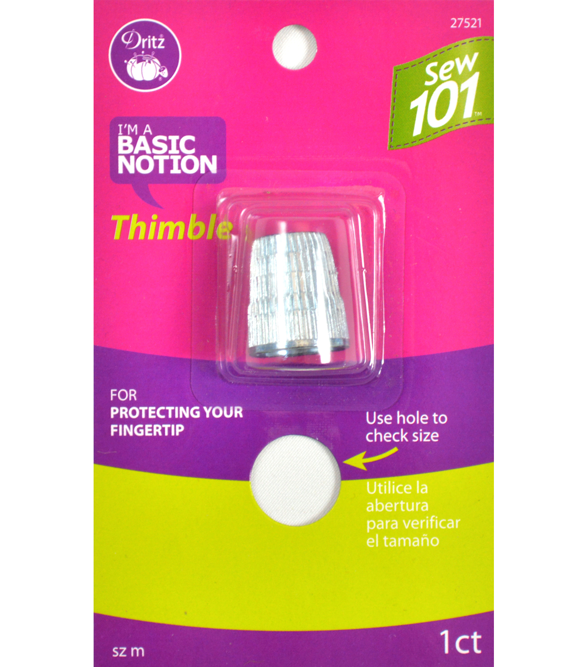 Dritz Sewing 101 Thimble Size Medium