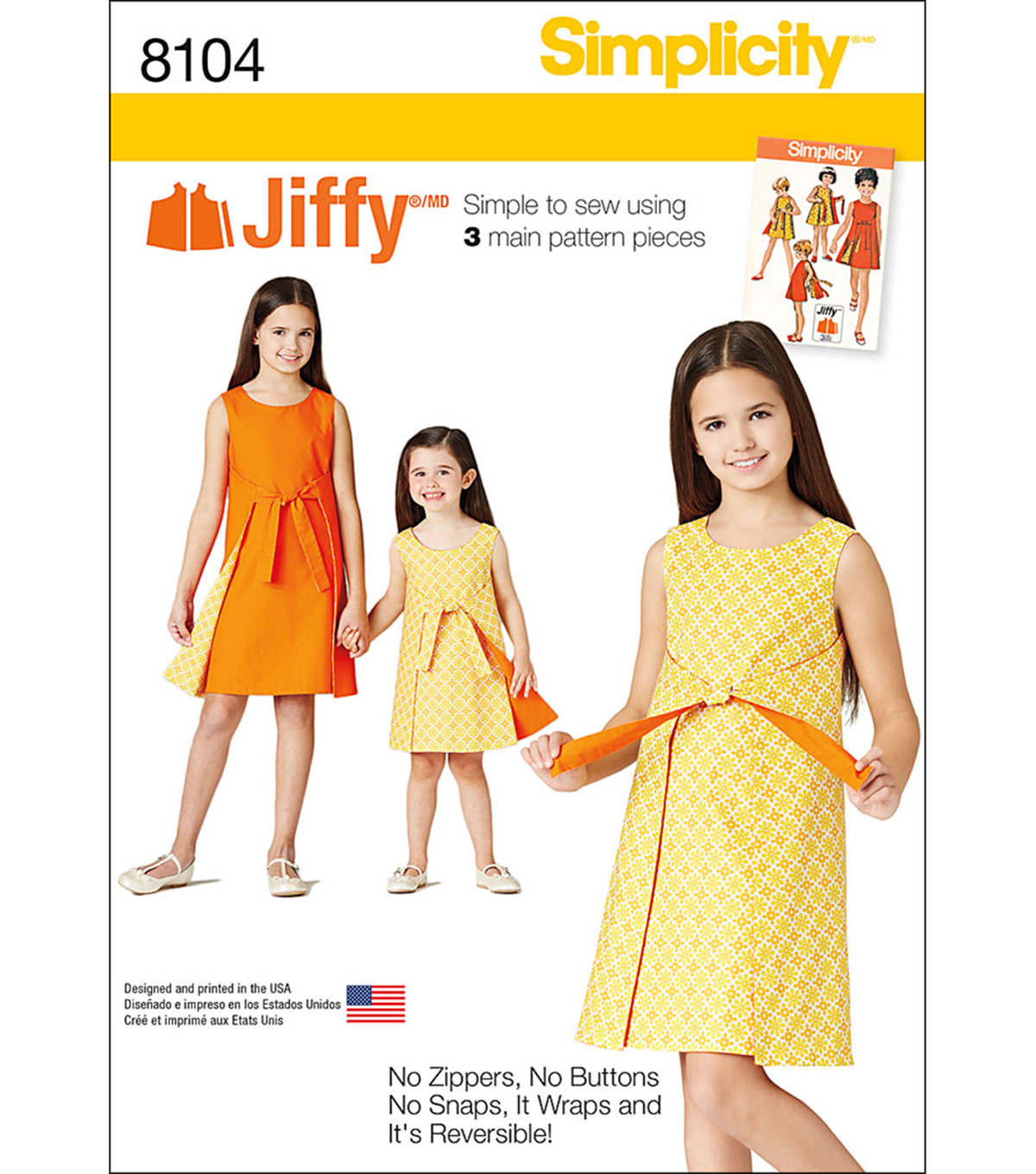 Simplicity Patterns US8104K5 Children-7-8-10-12-14