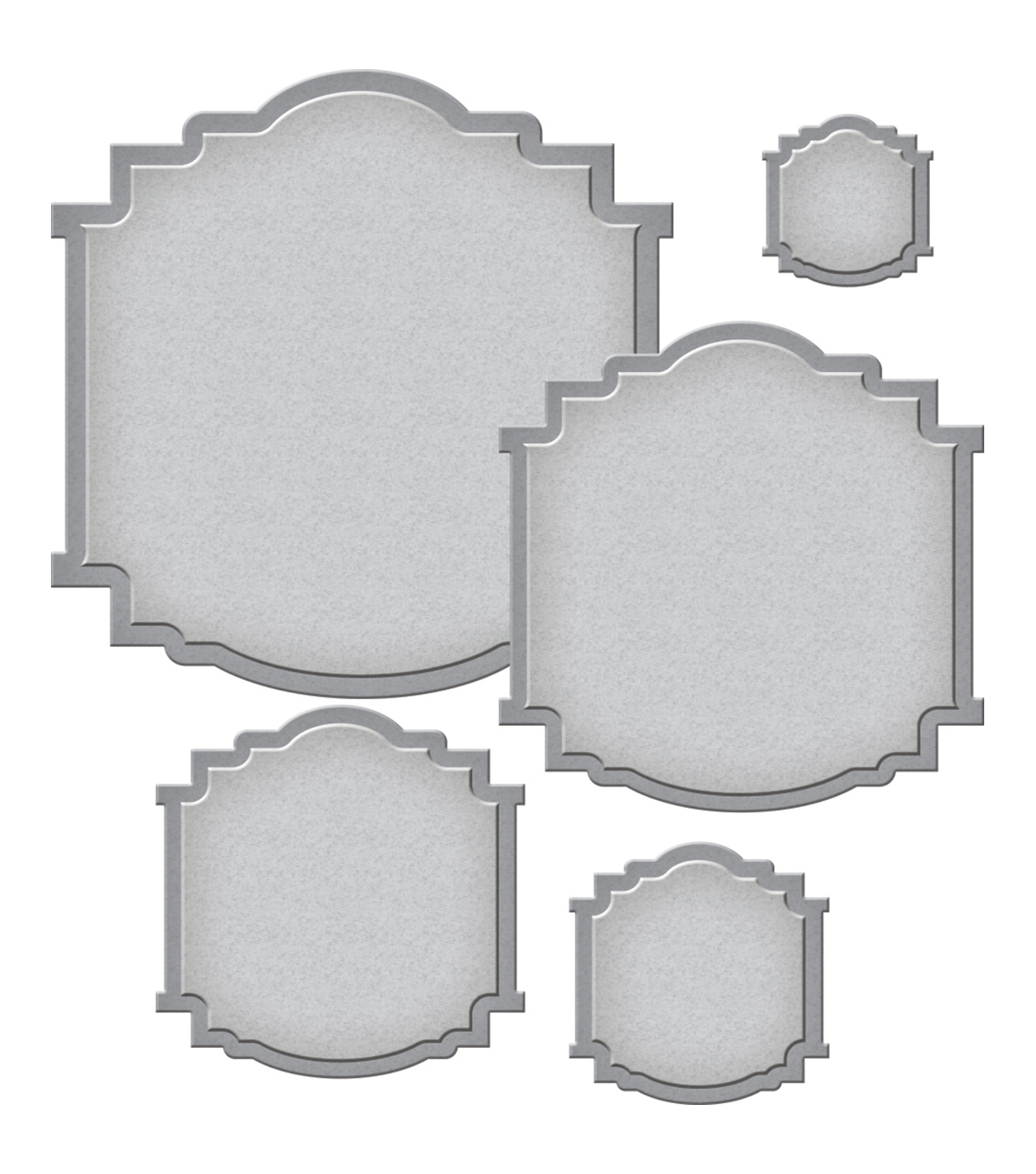 Spellbinders Nestabilities 5 Pack Etched Dies-Label 58