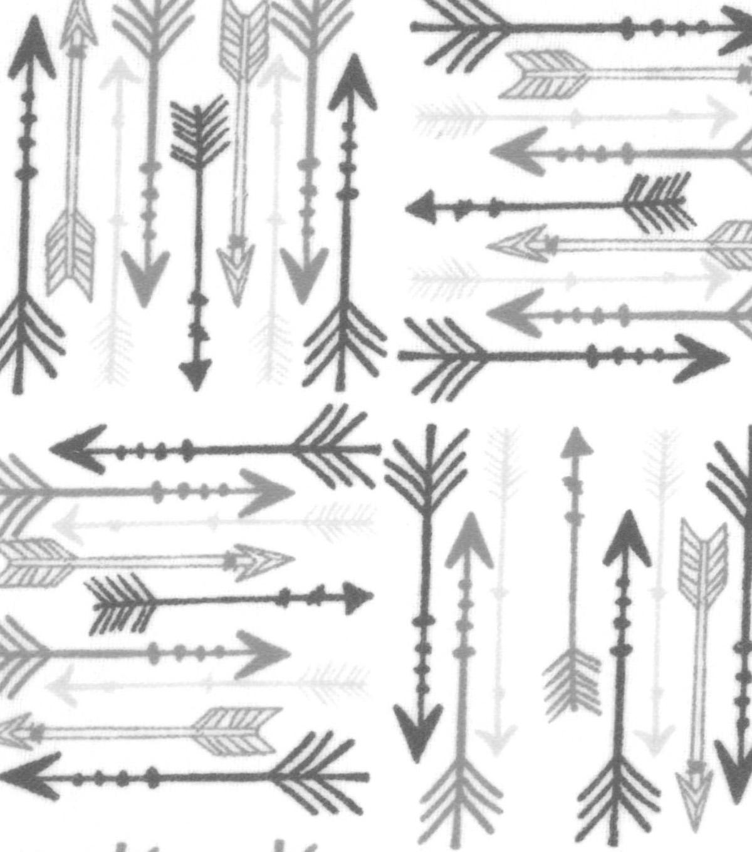 Snuggle Flannel Fabric 42 Grey Arrows Joann