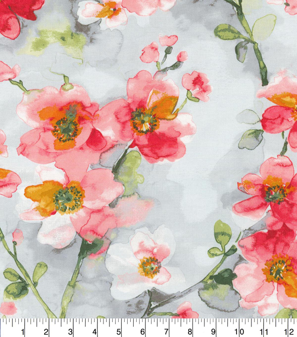 Waverly Upholstery Fabric 54\u0027\u0027-Berry Tree Blossom
