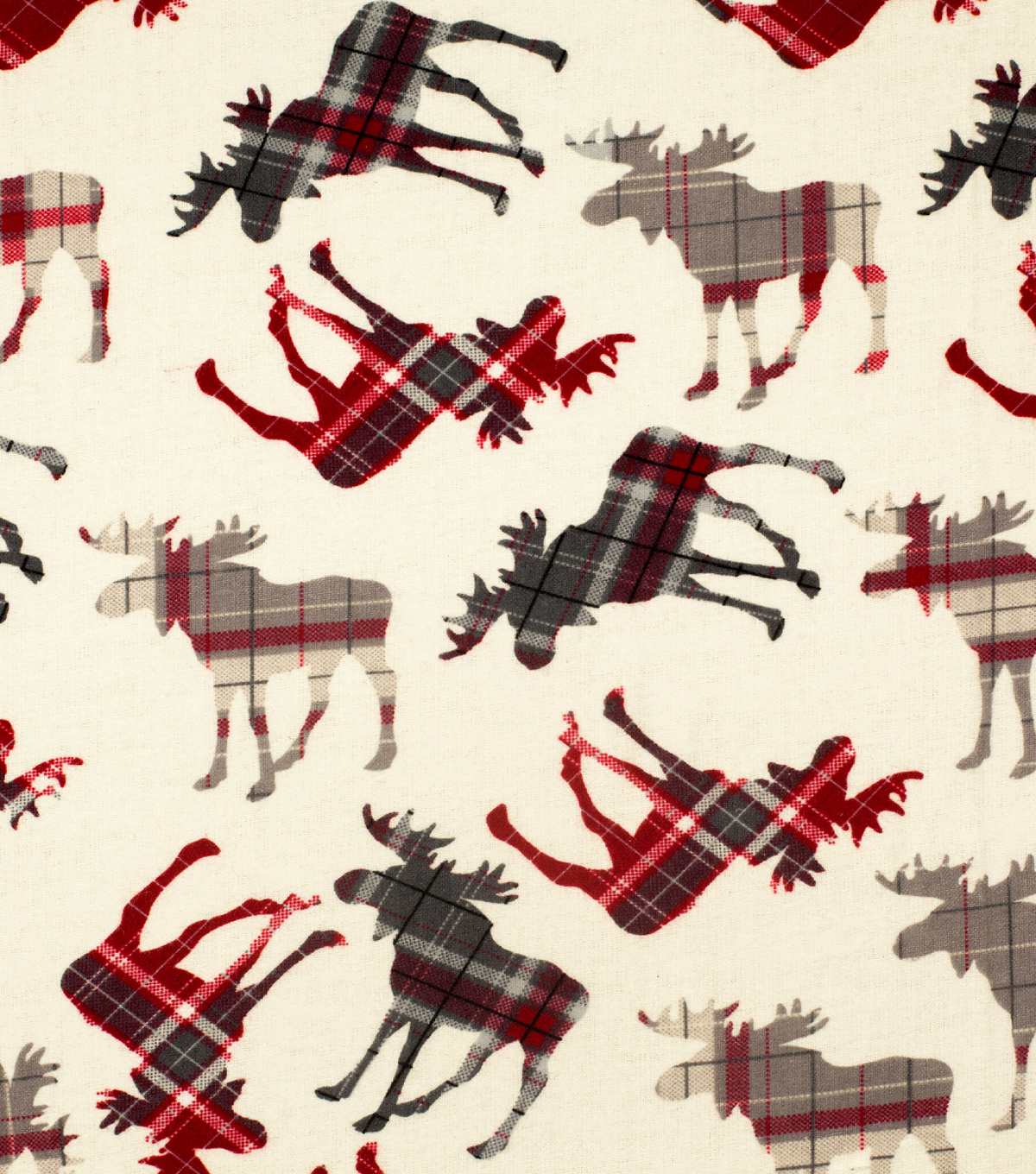 Super Snuggle Flannel Fabric-Patterened Moose