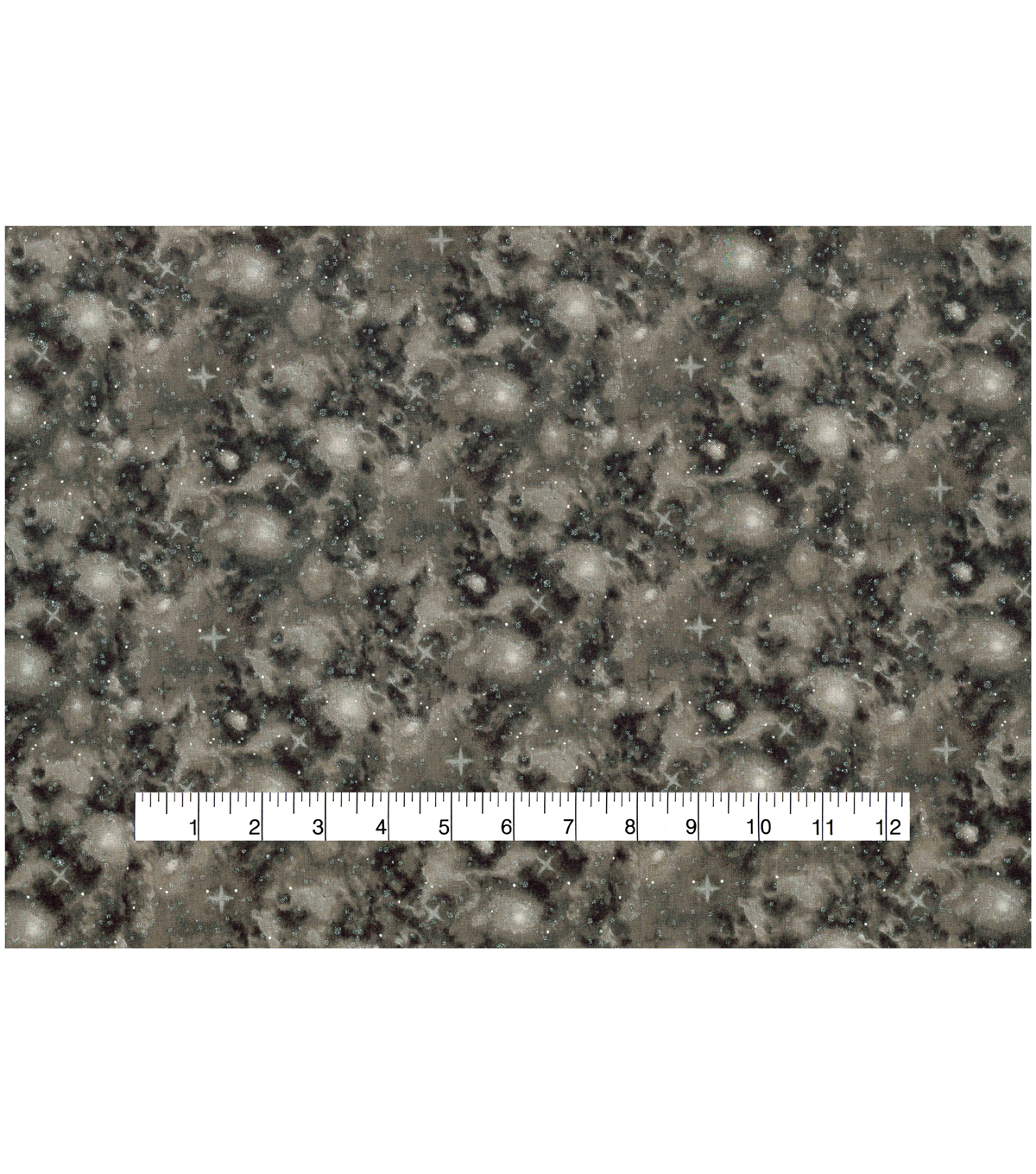 Keepsake Calico Cotton Fabric -Metallic & Brown Galaxy