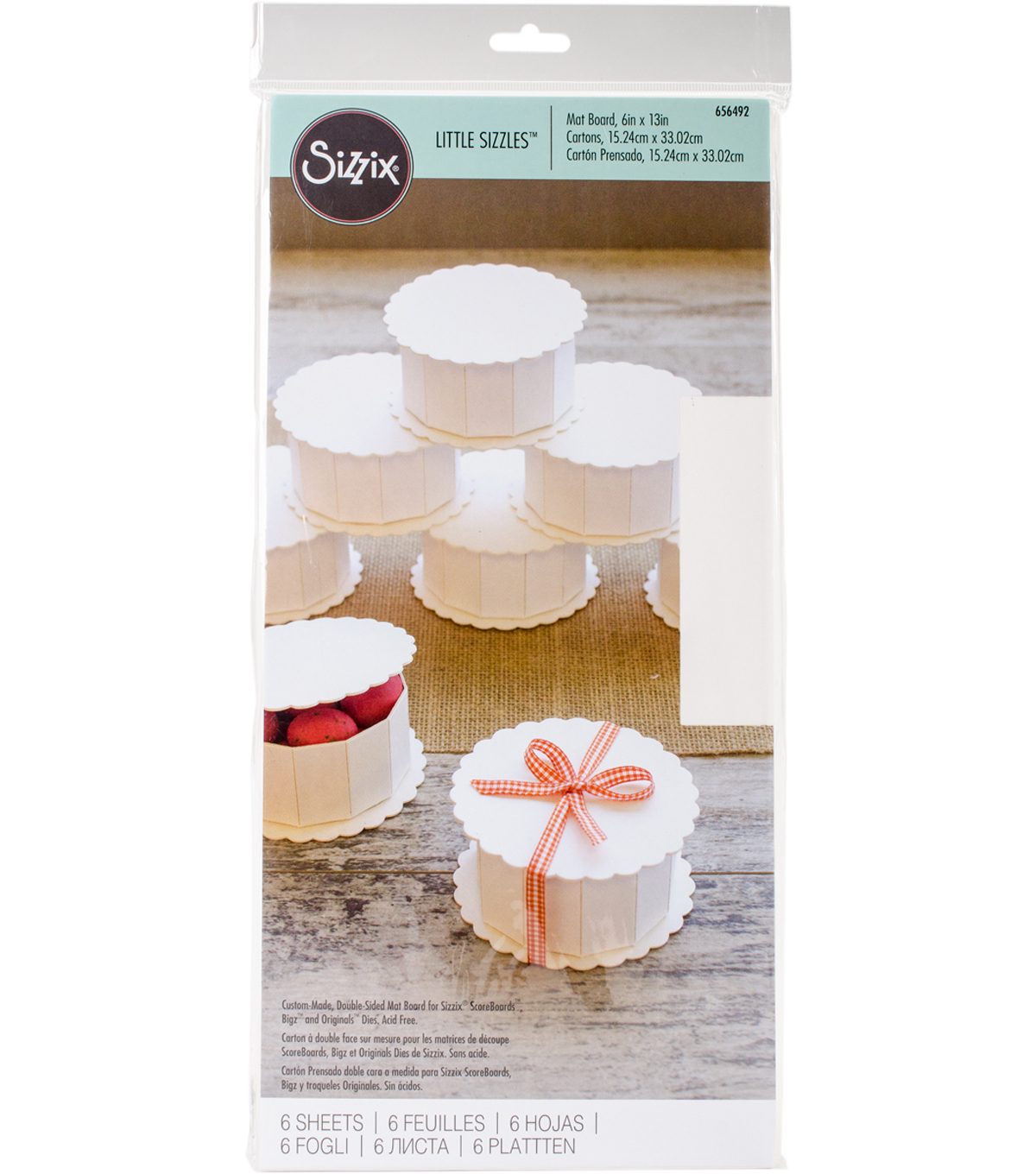 Sizzix Little Sizzles 6 Pack 6\u0027\u0027x13\u0027\u0027 Mat Board-White