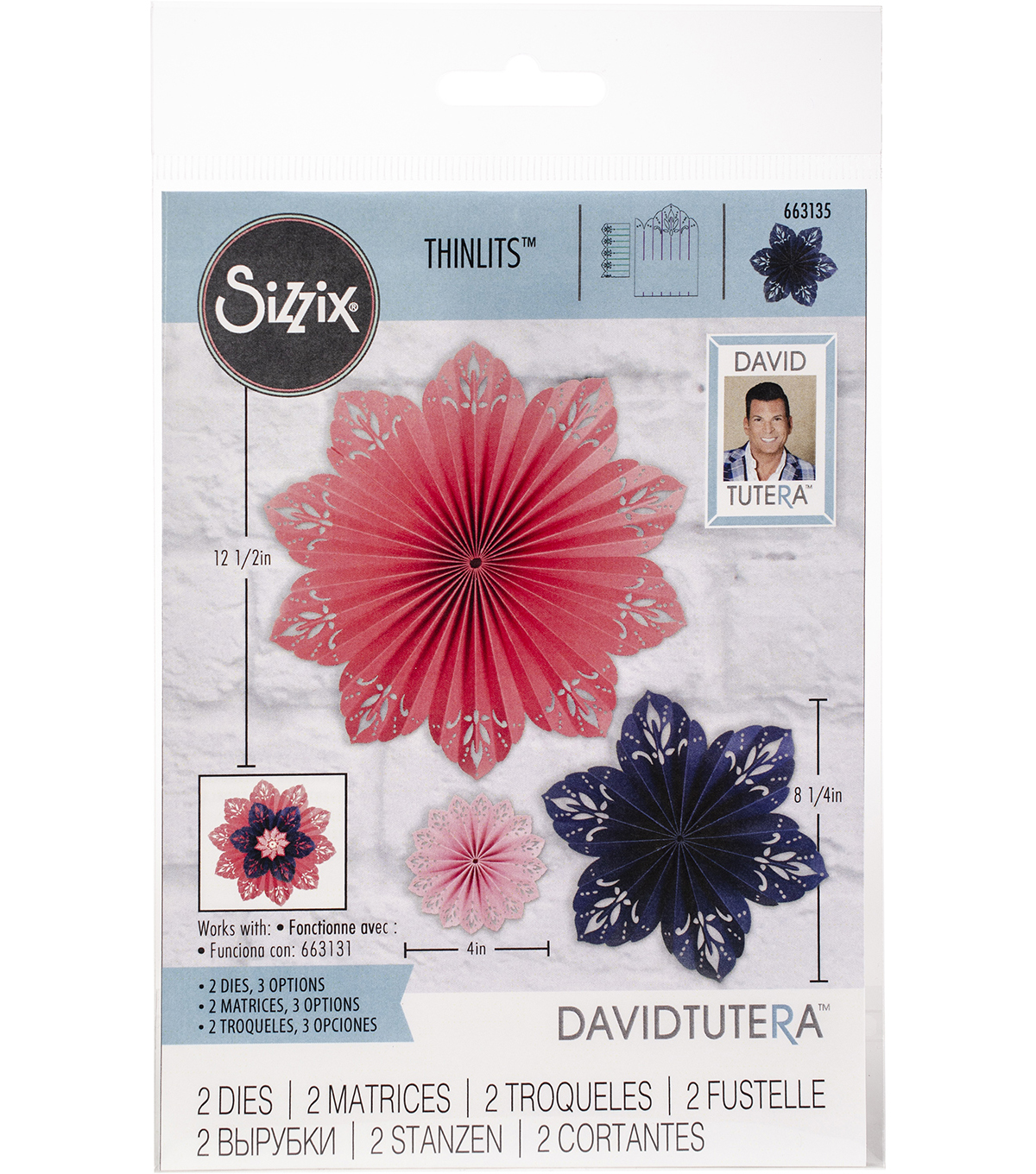 Sizzix Thinlits Dies By David Tutera 2/Pkg-Mandala Fan