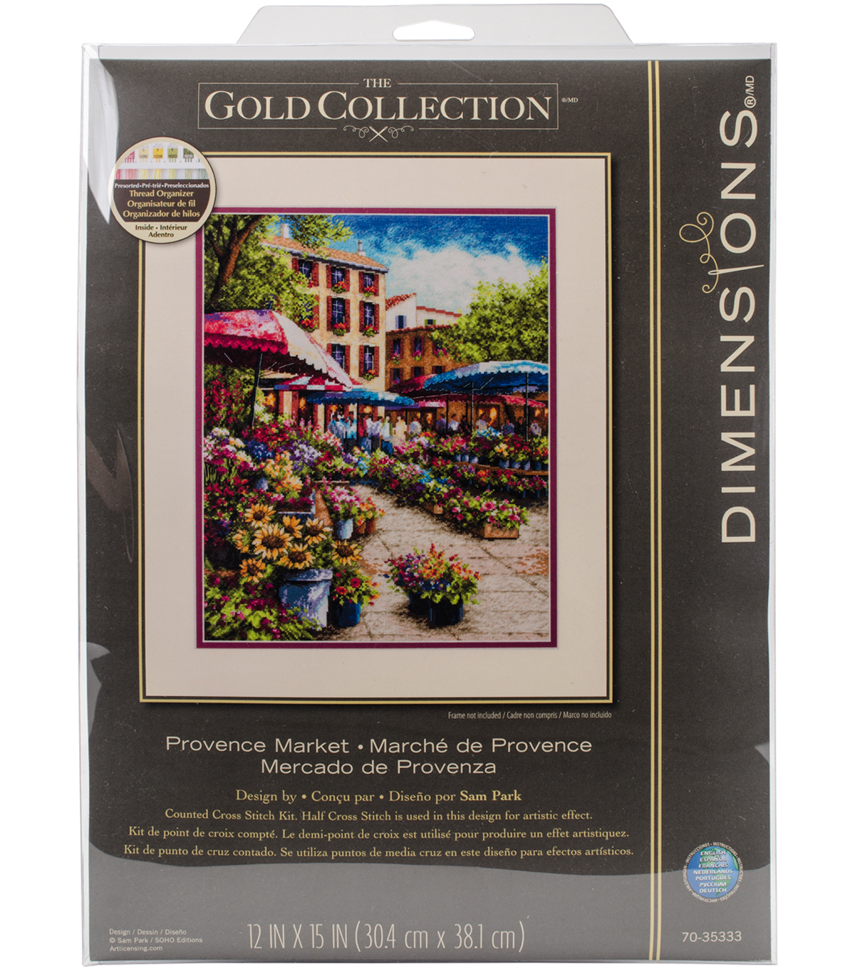 Gold Collection Provence Market Counted Cross Stitch Kit