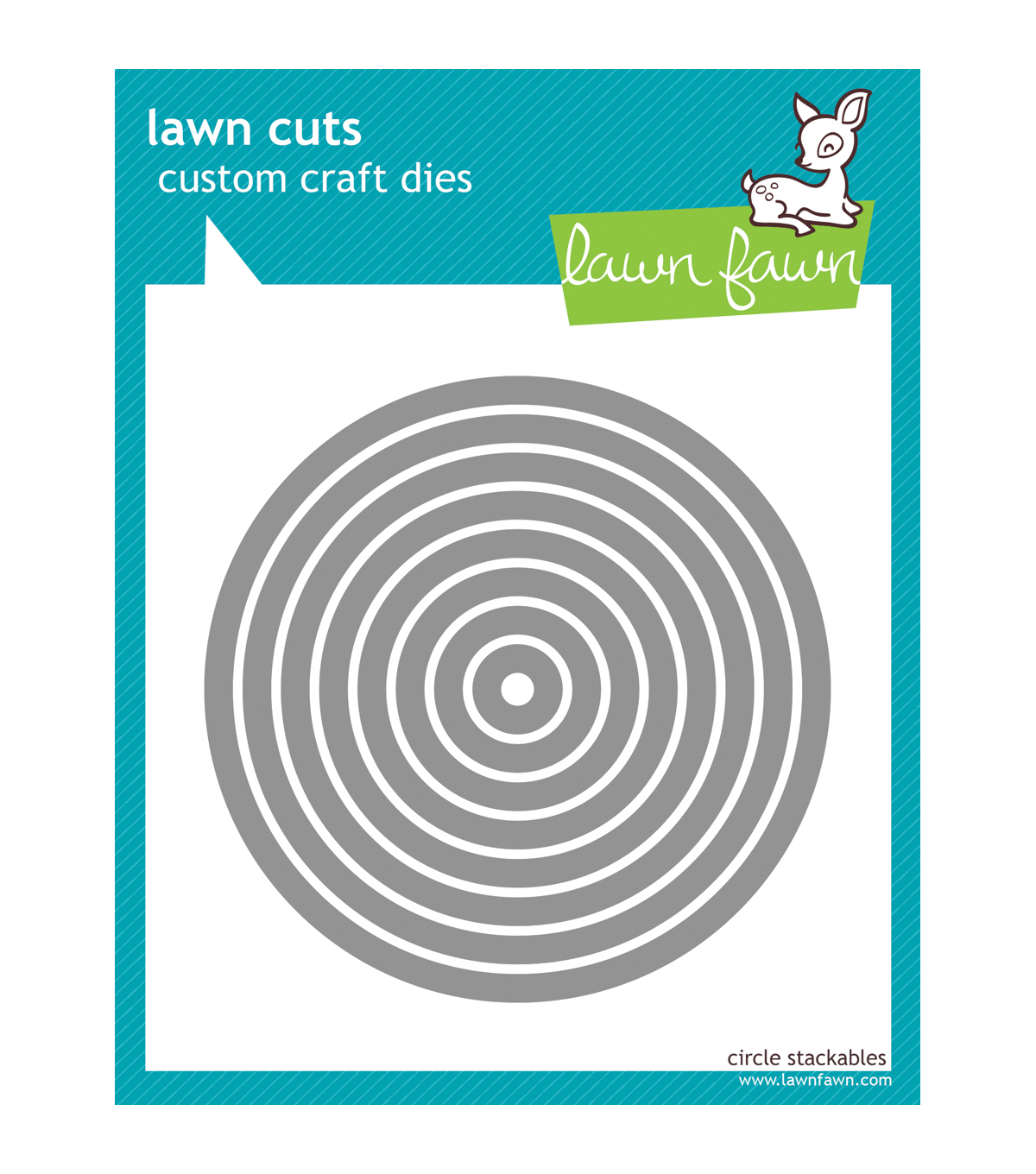 Lawn Fawn Lawn Cuts Custom Craft Die -Circle Stackables