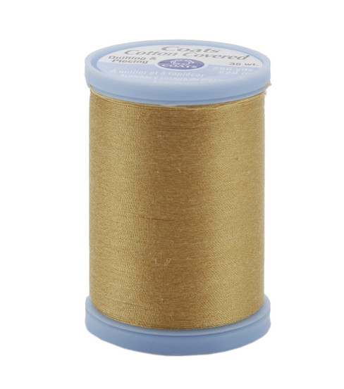 Coats & Clark Cotton Covered Quilting & Piecing Thread 250 Yards , 7450 Temple Gold
