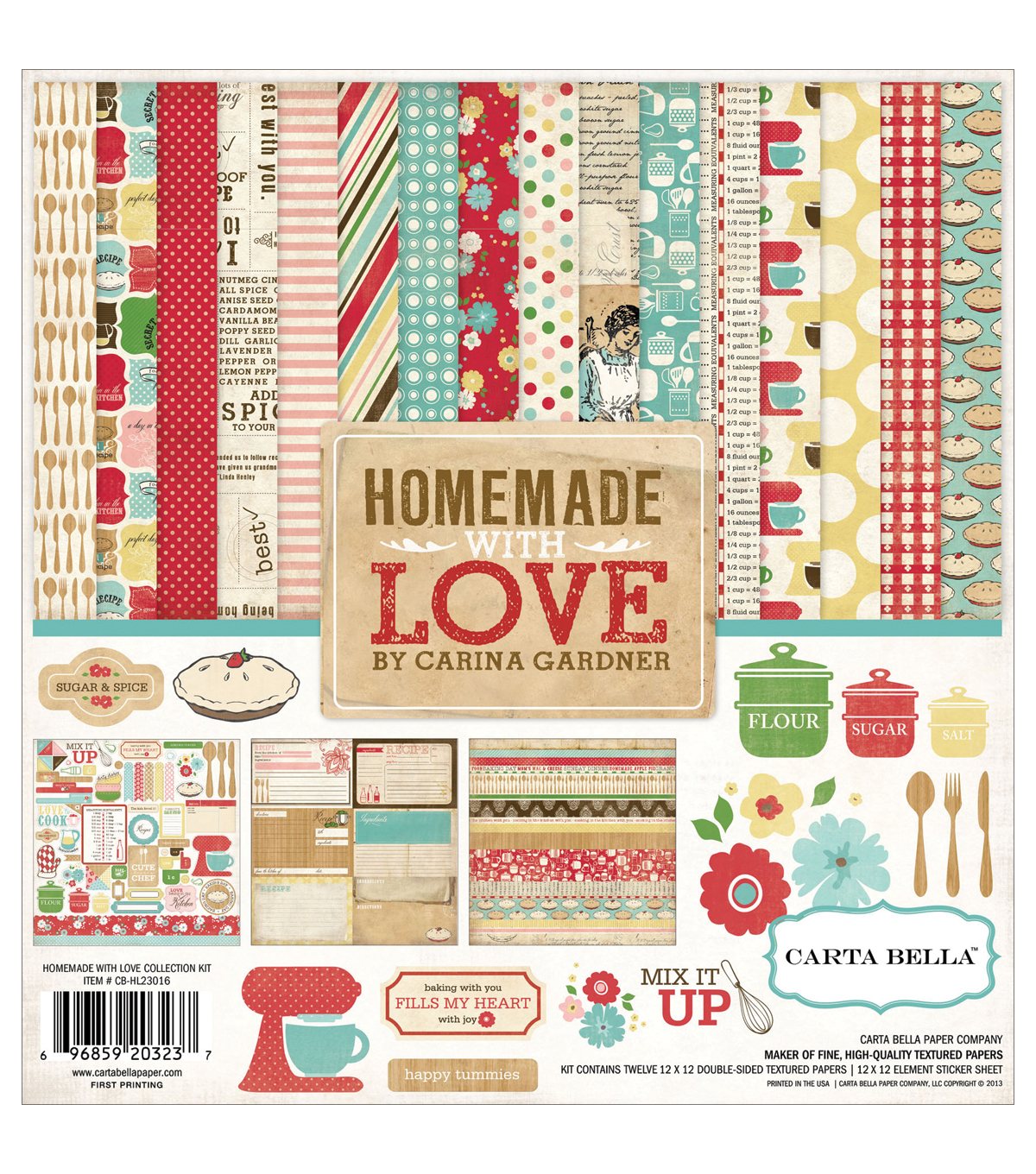 Carta Bella Collection Kit 12\u0022X12\u0022-Homemade With Love