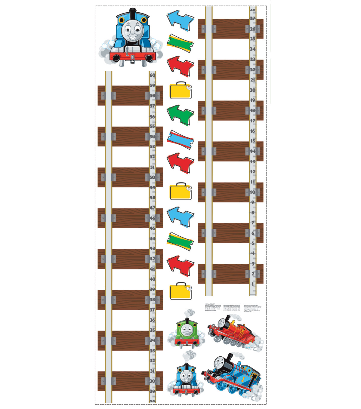 York Wallcoverings Wall Decals-Thomas & Friends Growth Chart