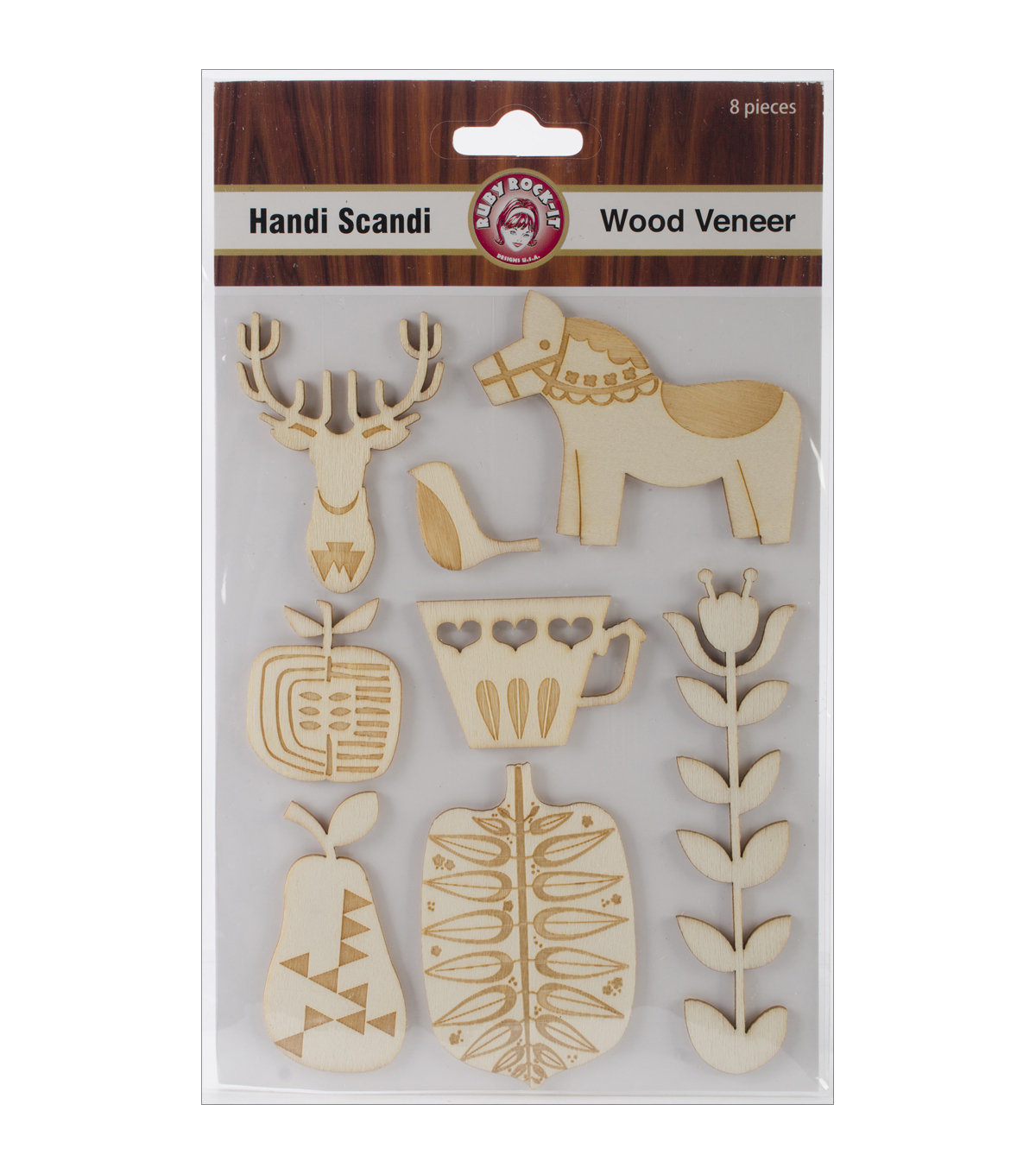 Handi Scandi Wood Veneer Shapes 8/Pkg-