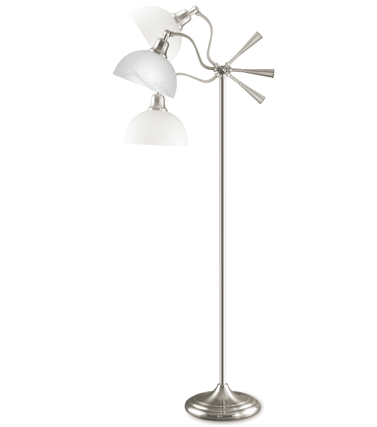 25w Brushed Nickel Cambridge Floor Lamp