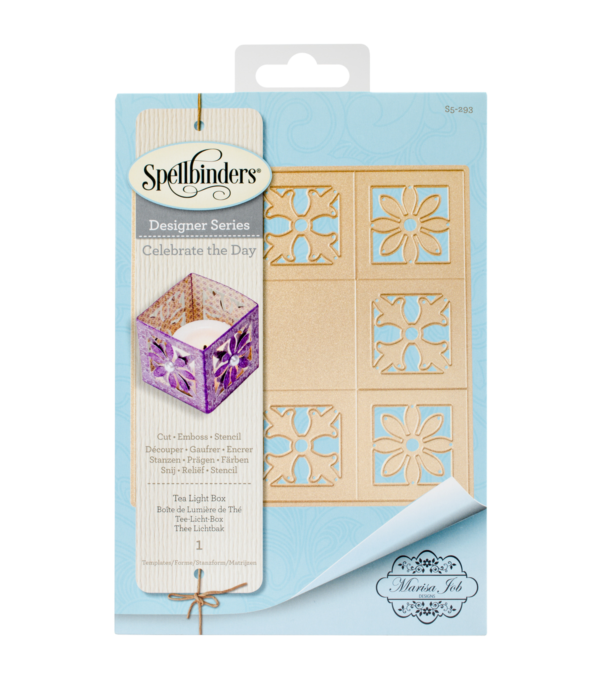 Spellbinders Shapeabilities Etched Die-Tea Light Box