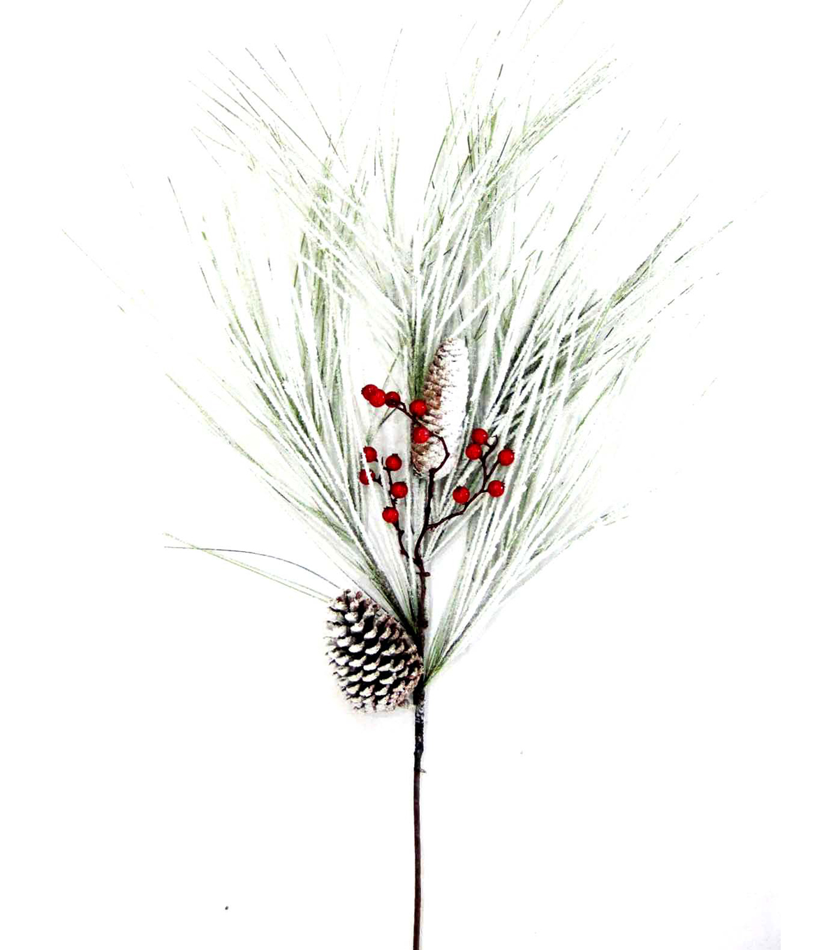 Blooming Holiday Pine, Pinecone & Berry Spray