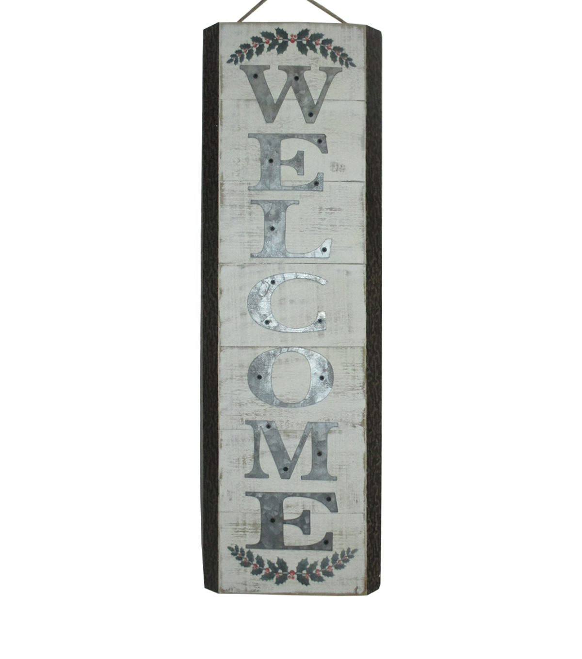 Maker\u0027s Holiday Christmas Vertical Wall Decor-Welcome