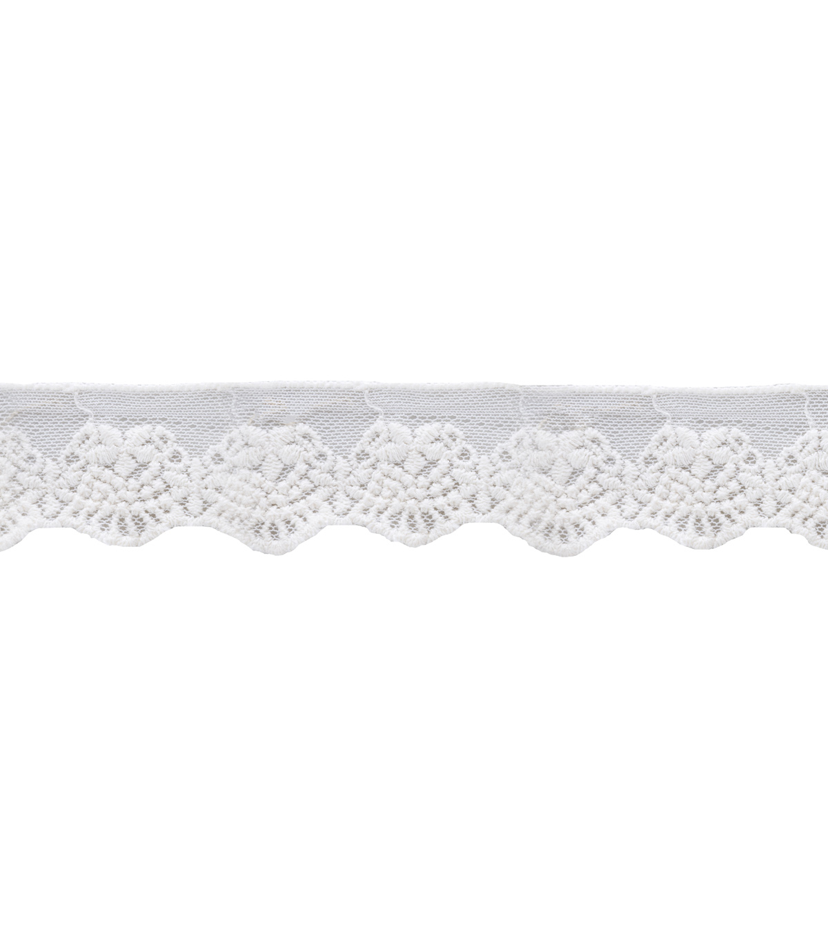 Wrights Trims-Embr Mesh Ivory