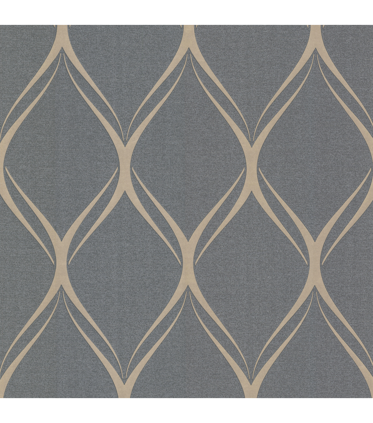 Gustav Silver Geometric Wallpaper Sample
