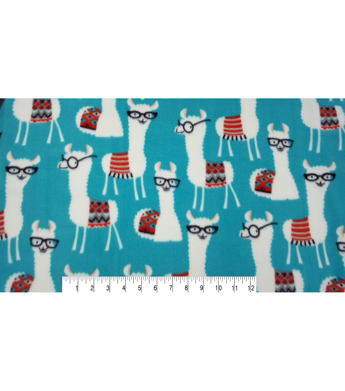 Anti-Pill Fleece Fabric 59\u0022-Library Llamas