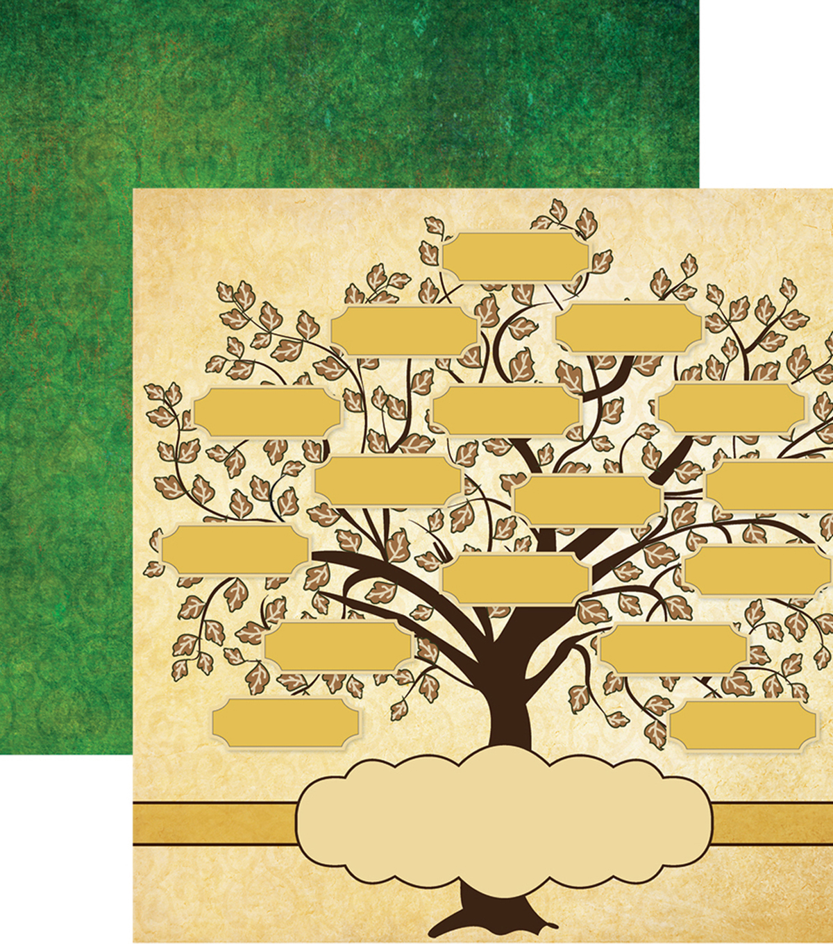 Family Tree Double-Sided Cardstock 12\u0022X12\u0022-Family Tree