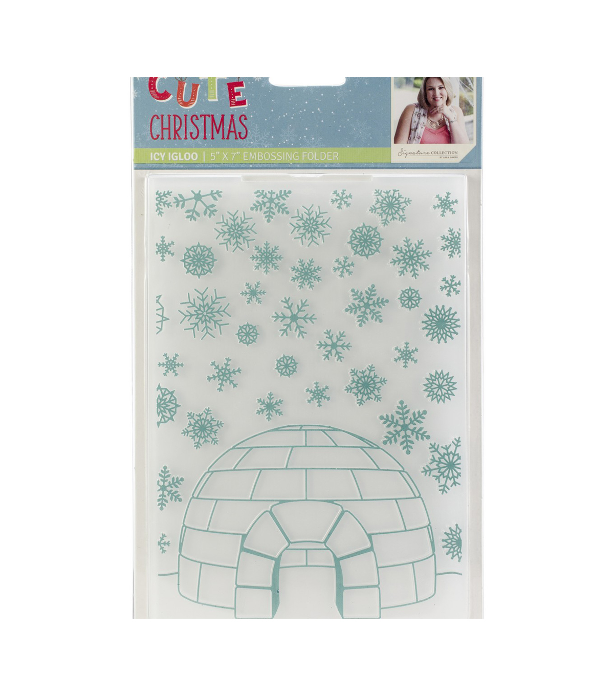 Sara Davies Signature Cute Christmas 5\u0027\u0027x7\u0027\u0027 Embossing Folder-Icy Igloo