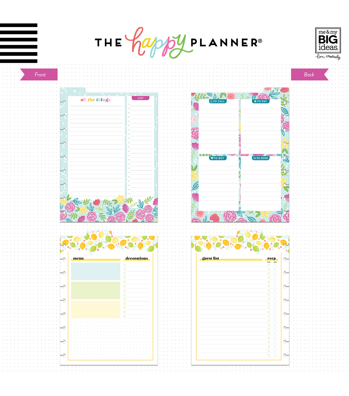 The Happy Planner Girl Classic Dry Erase Board-Happy Hostess
