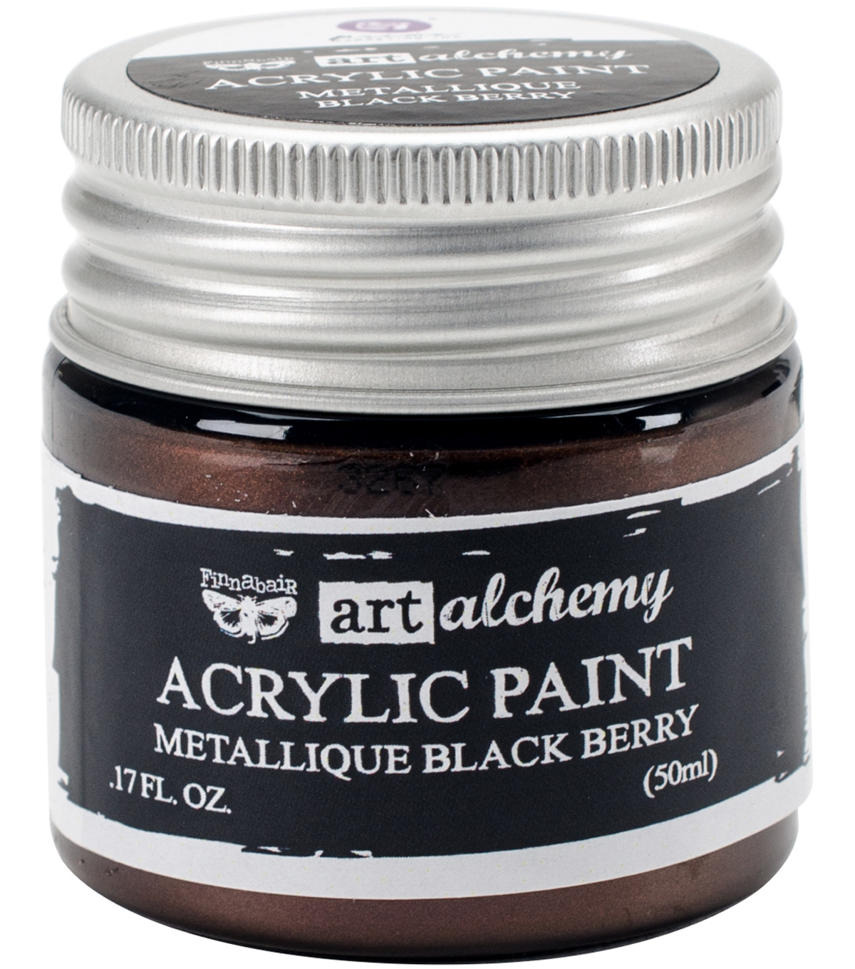 Prima Marketing Art Alchemy 1.7 oz. Acrylic Paint-Metallique Black Berry