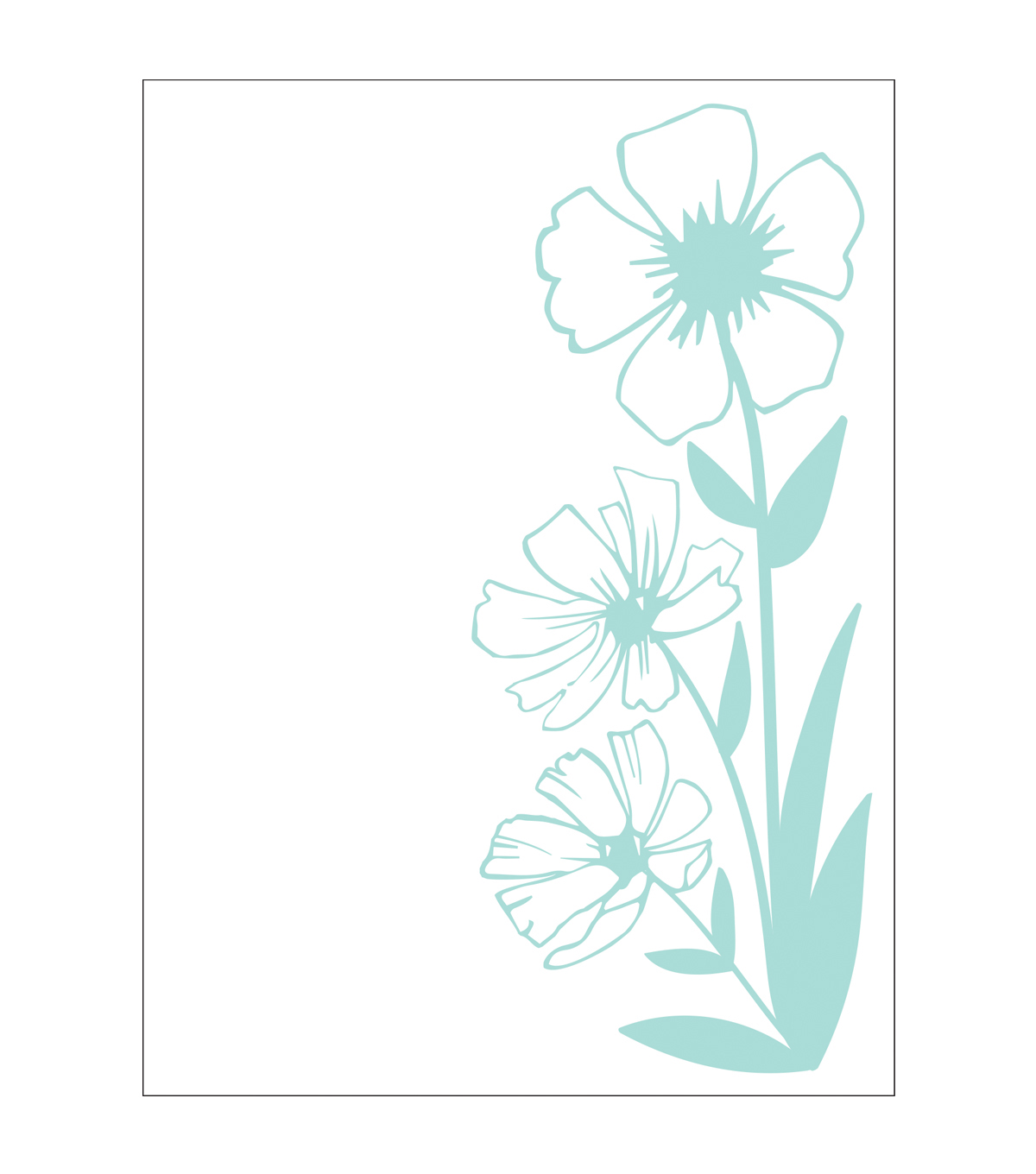 Park Lane A2 Embossing Folder-Wildflowers