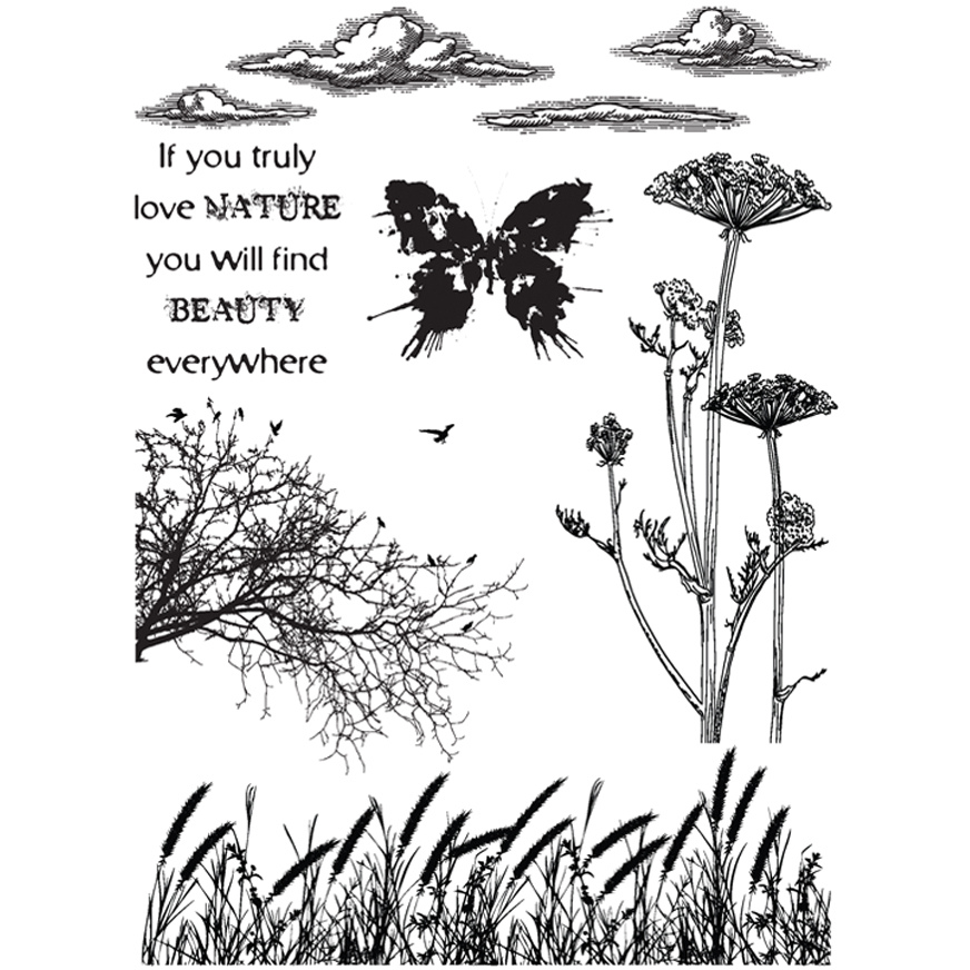 IndigoBlu Cling Mounted Stamp Nature 1