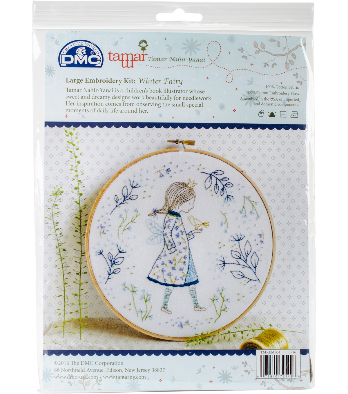 Tamar Winter Fairy Embroidery Kit-10\u0022X10\u0022