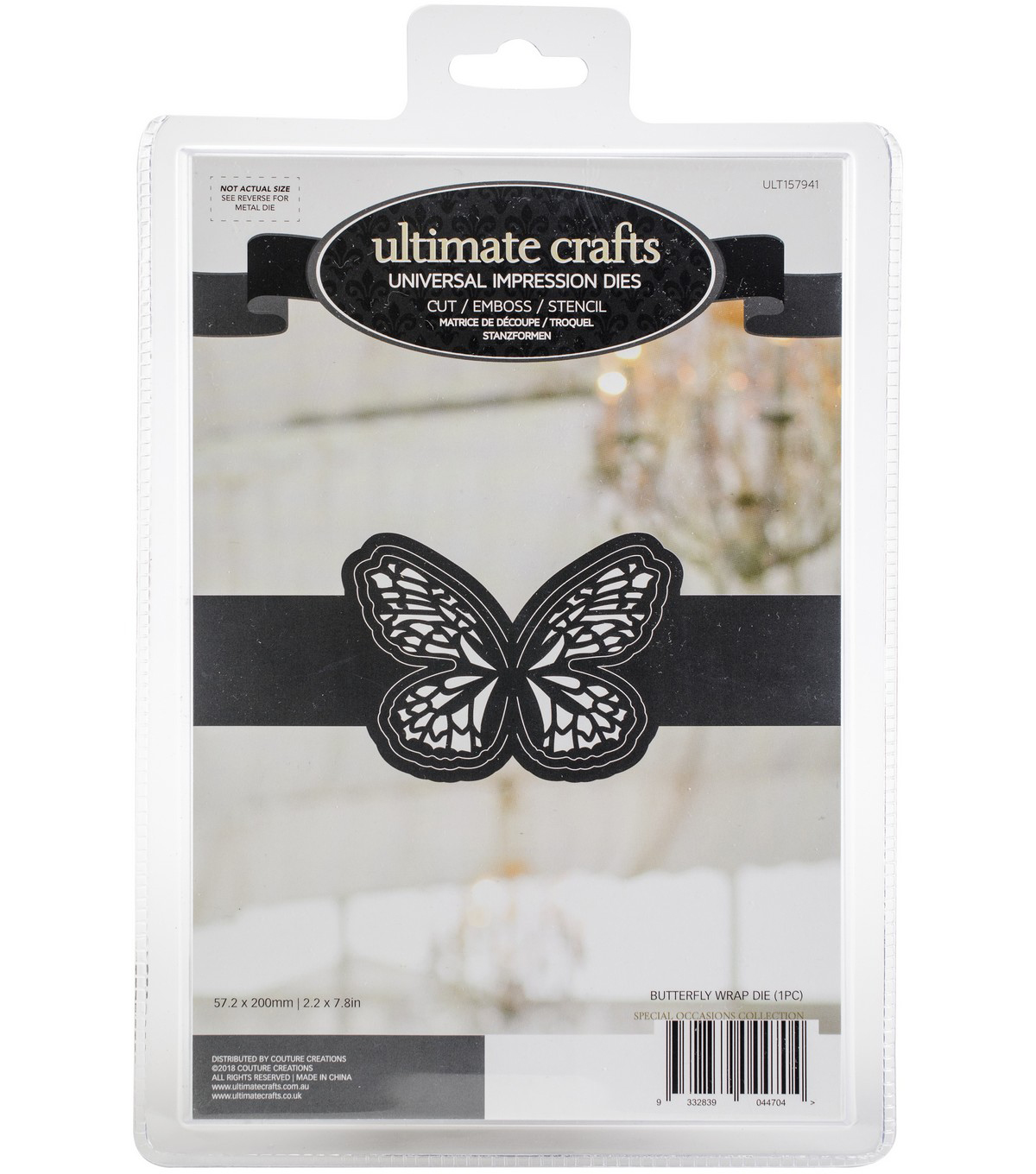 Ultimate Crafts Special Occasions Die-Butterfly Wrap 2.2\u0022X7.8\u0022
