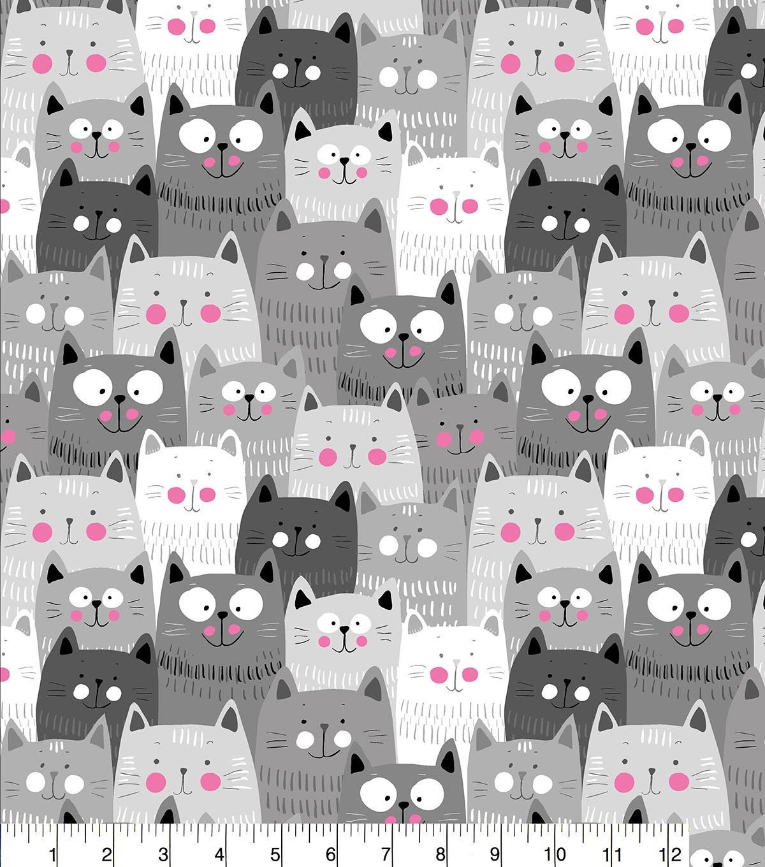 Cute Cat Print Flannel Baby Blanket Soft Fabric Baby Warm Blanket Supplies NB