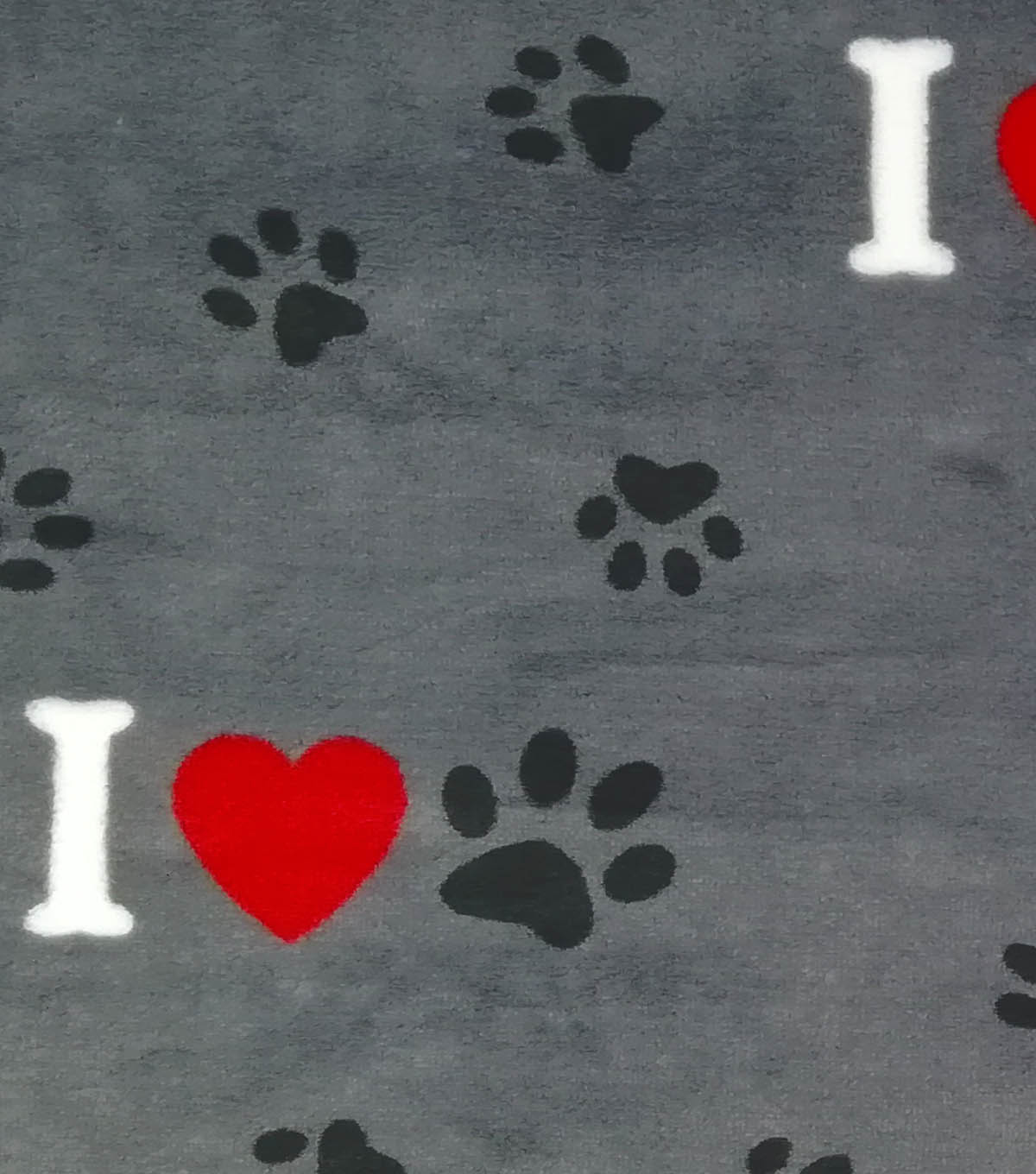 Sew Lush Fabric -Bones, Hearts & Paws