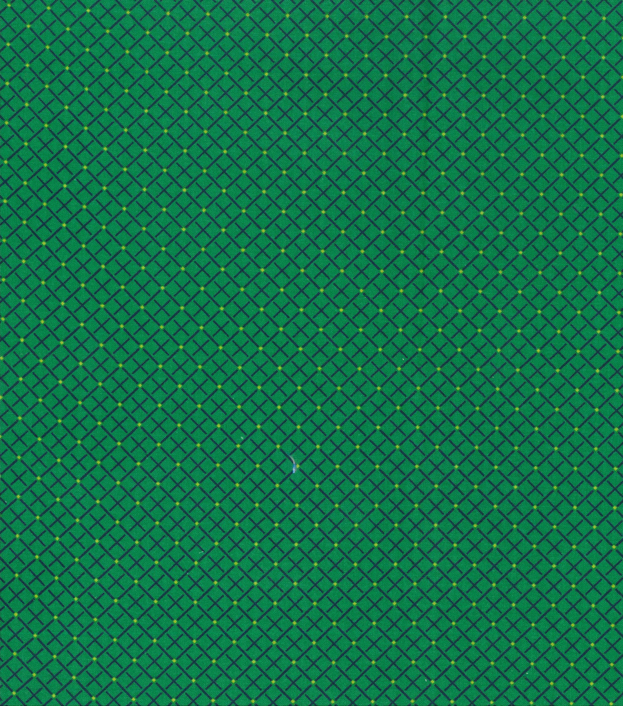 Keepsake Calico Cotton Fabric -Square Green Navy