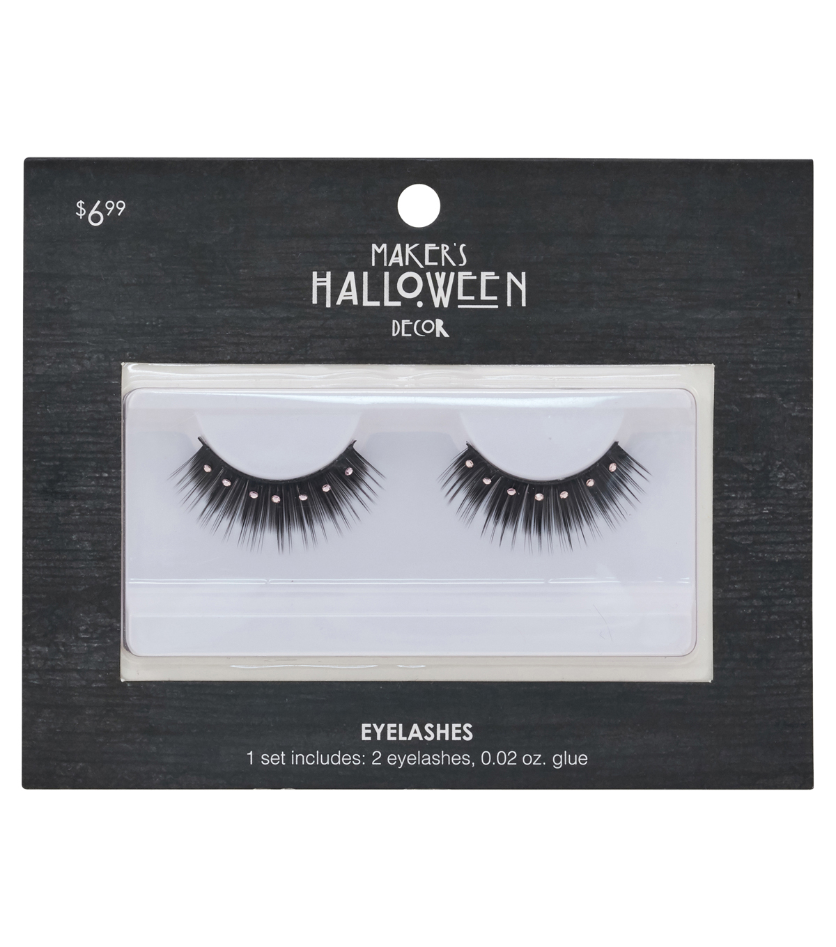 Makers Halloween Black Eyelashes With Pink Gemstones Glue Joann