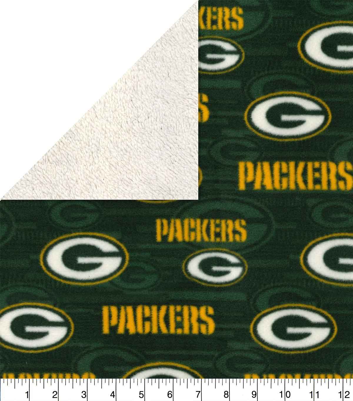 klassiset kengät kuponkikoodit hyvä Green Bay Packers Sherpa & Fleece Fabric