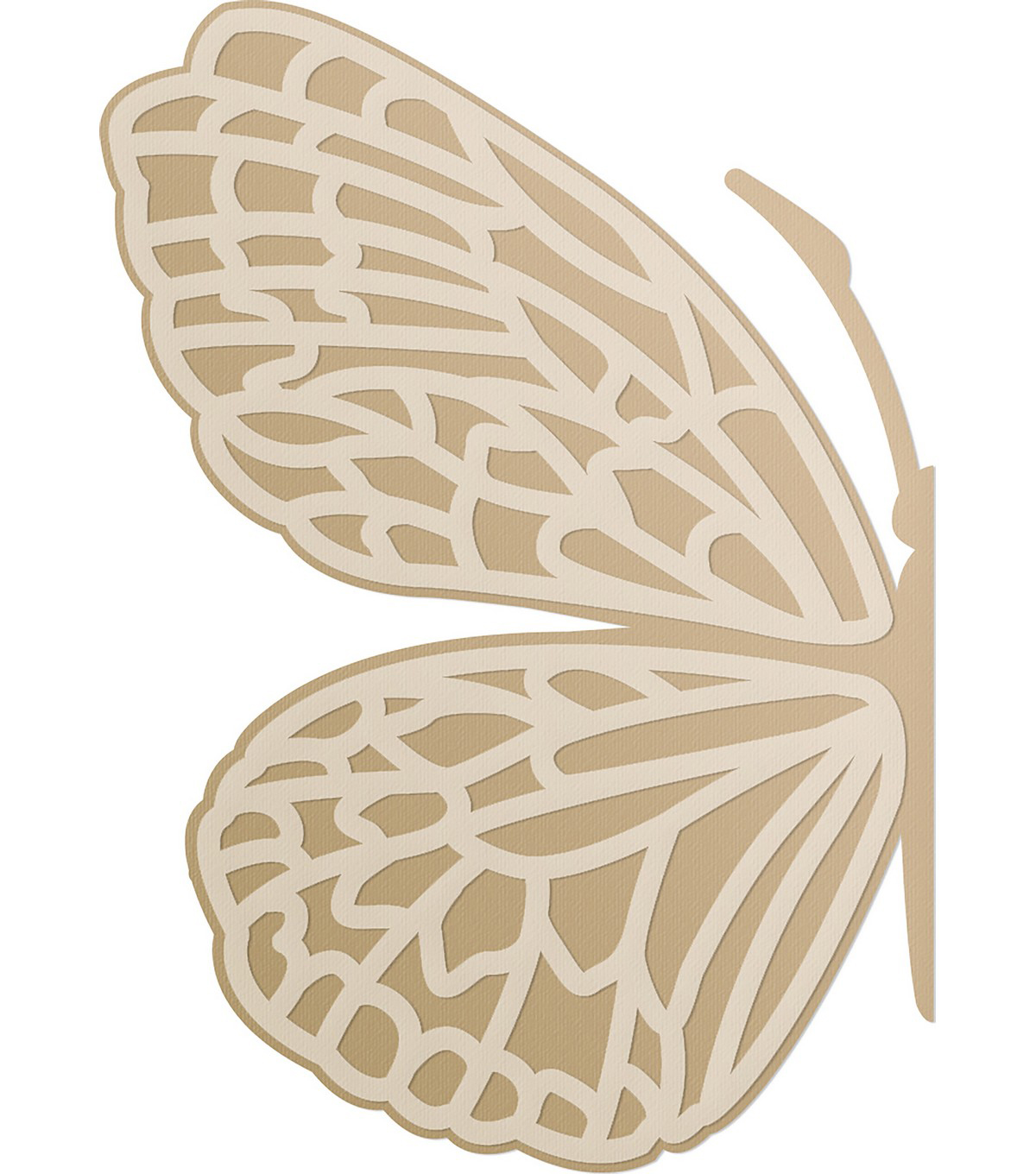 Ultimate Crafts Special Occasions Die-Layered Butterfly 1.8\u0022X2.6\u0022