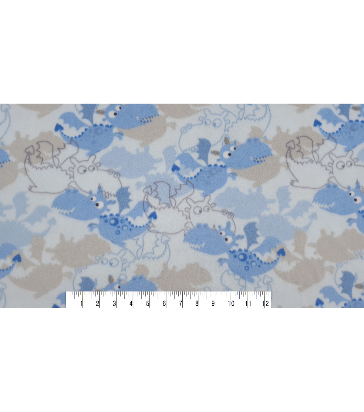 Micro Fleece Fabric 59\u0022-Little Dragon