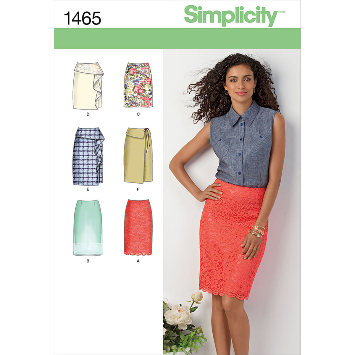 Simplicity Pattern 1465R5 14-16-18-2-Misses Skirts Pants