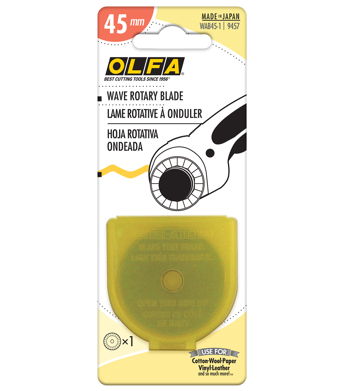Olfa Rotary Wave Blade-45mm