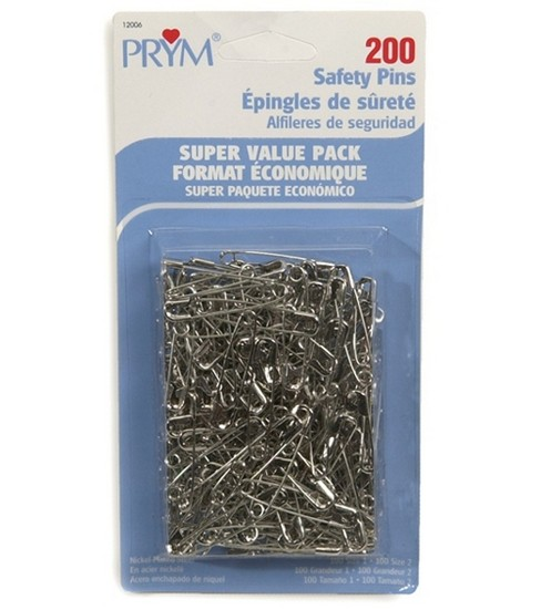 Dritz Super Value Pack Safety Pins 200pcs In 2 Sizes