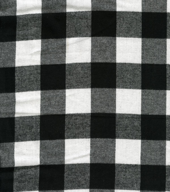 Plaid Flannel Fabric Buffalo Plaid Black U0026 White
