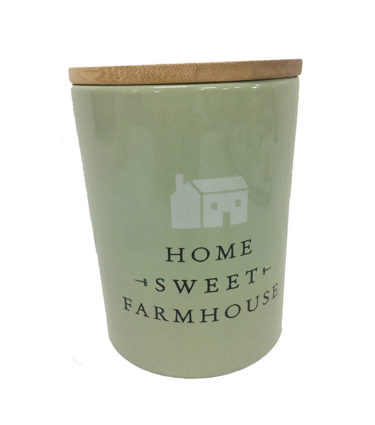 Simply Spring Large Ceramic Canister-Home Sweet Farmhouse