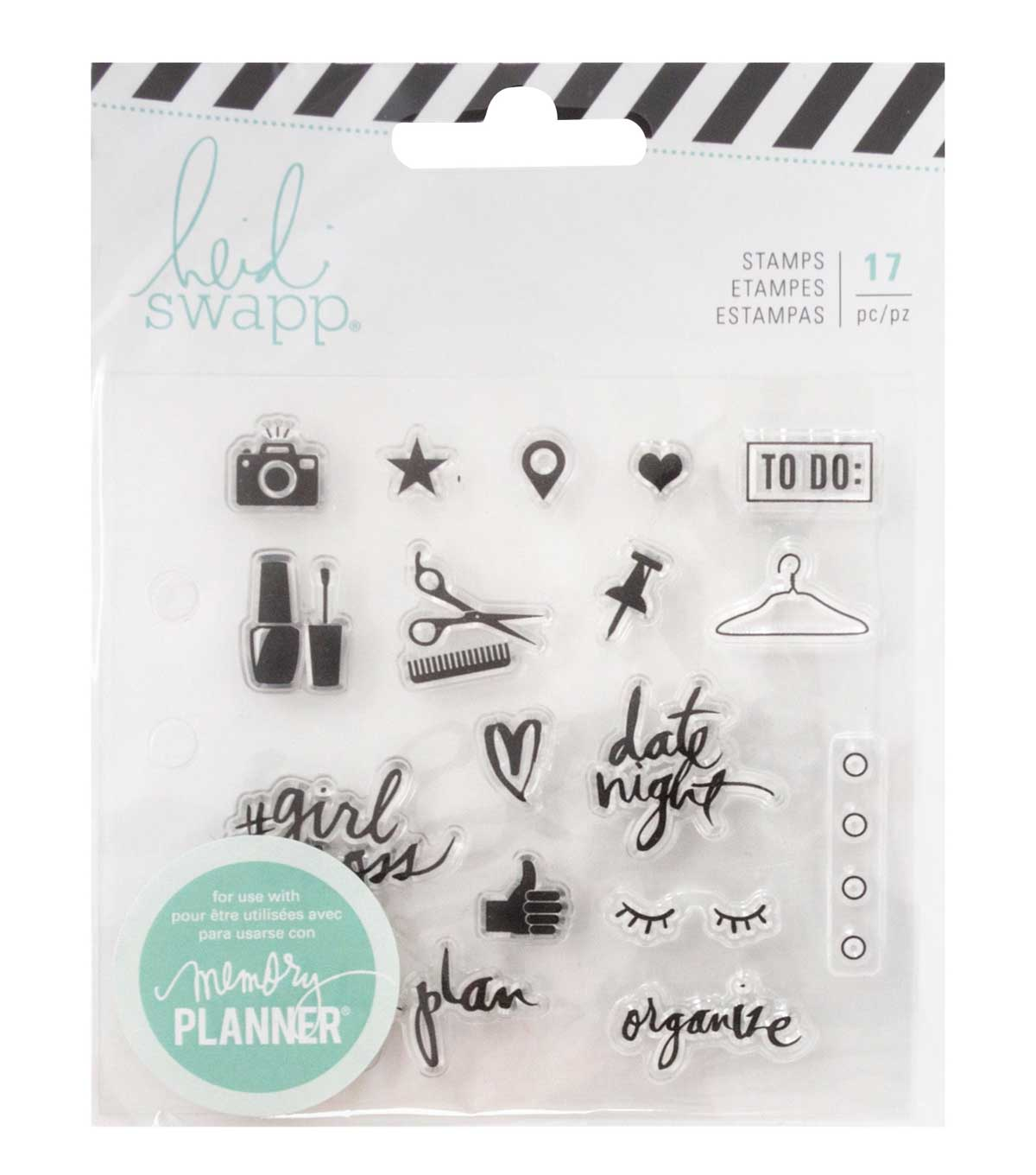 Heidi Swapp Fresh Start Clear Stamps-Everyday