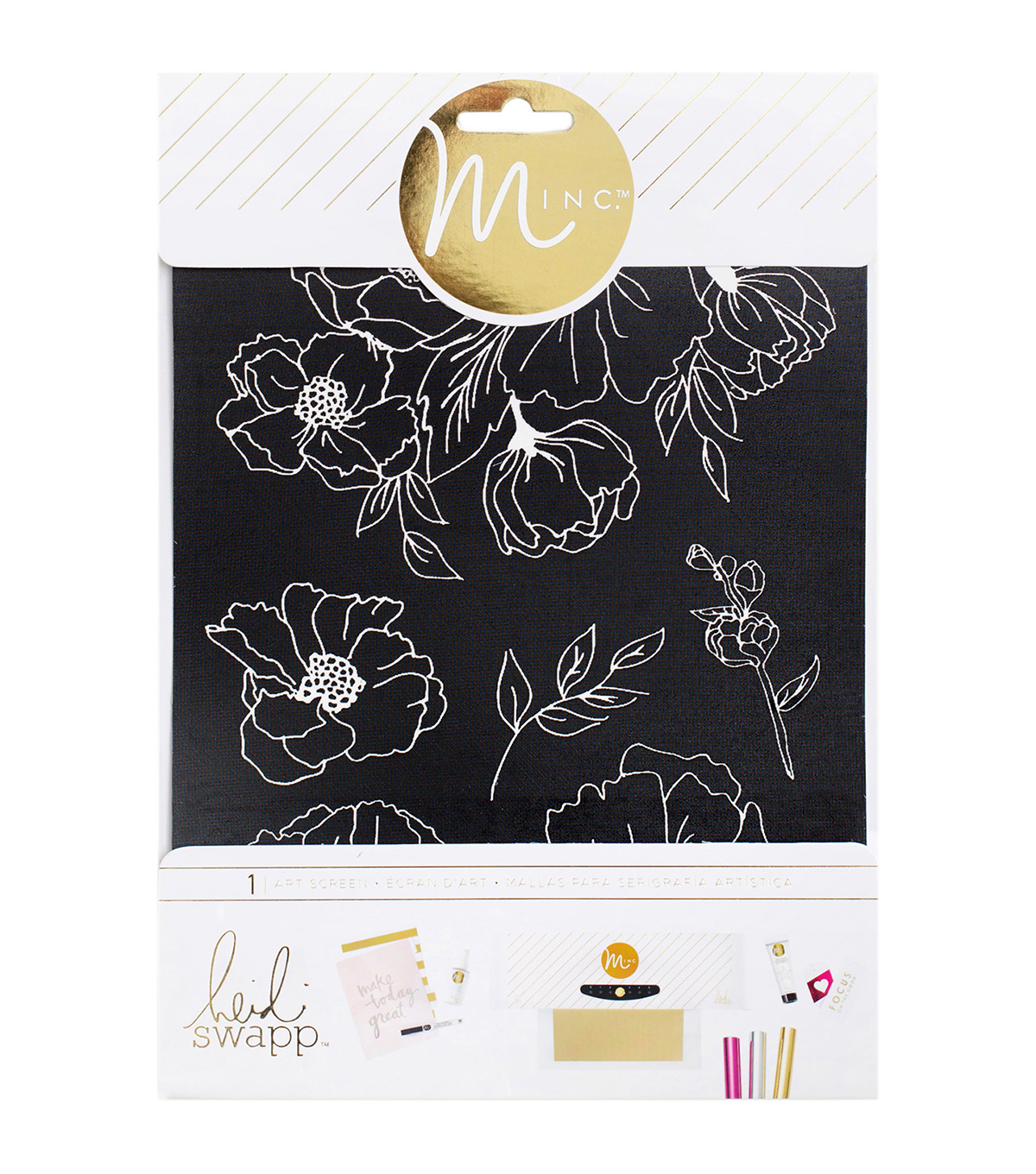 Heidi Swapp Minc Art Screen 6.5\u0022X8.5\u0022-Floral