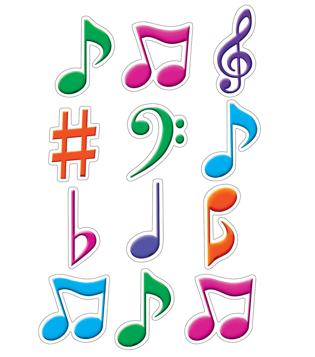 Musical Notes Mini Accents 36/pk, Set of 12 Packs